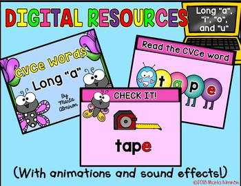 Color by CVCe WORDS {SPRING} With Digital Resources