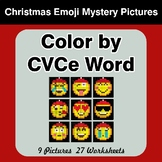 Color by CVCe Word - Christmas Emoji Mystery Pictures
