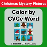 Color by CVCe Word - Christmas Mystery Pictures