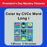 Color by CVCe Word | Long i - President's Day Mystery Pictures
