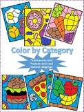 Color by Category Worksheets