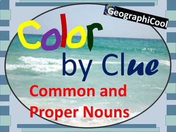 Color by Clue - Common and Proper Nouns ELA