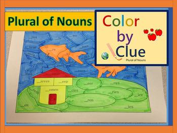 Color by Clue - Plural of Nouns ELA
