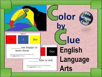Color by Clue - Pronouns ELA