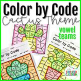 Color by Code Activities - Cactus / Cacti - Vowel Teams