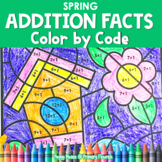 Color-by-Code Addition | Color by Number {Spring}