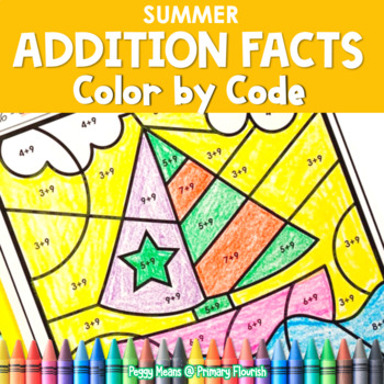 Color-by-Code Addition   Color by Number {Summer}