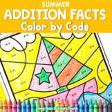 Color-by-Code Addition | Color by Number {Summer}