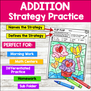 Color-by-Code Addition | Color by Number {Valentine}