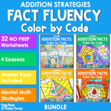 Color-by-Code Addition | Color by Number Seasons {BUNDLE}