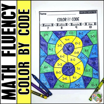 Color by Code Addition and Subtraction