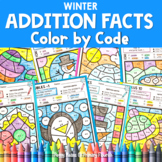 Color by Code Addition | Color by Number {Winter}