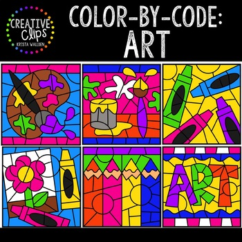 Color by Code: Art Clipart {Creative Clips Clipart}