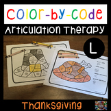 Color by Code Articulation L Thanksgiving