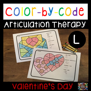 Color by Code Articulation L Valentine's Day