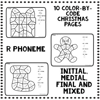 Color by Code Articulation R Christmas