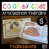Color by Code Articulation S Thanksgiving