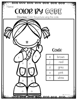 Color by Code August