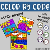 Color by Code - Beginning Digraphs - Ocean Themed