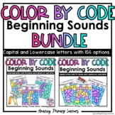 Color by Code   Beginning Sounds BUNDLE   Capital and Lowe