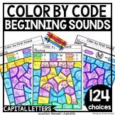 Beginning Sounds Coloring Worksheets   Alphabet