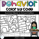Color by Code | Behavior | Back to School