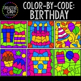 Color by Code: Birthday Clipart {Creative Clips Clipart}
