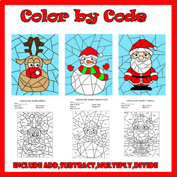 Color by Code: Christmas Bundle