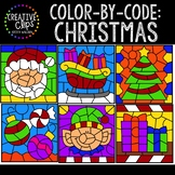 Color by Code: Christmas Clipart {Creative Clips Clipart}