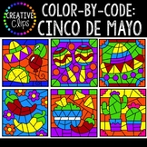 Color by Code: Cinco De Mayo Clipart {Creative Clips Clipart}