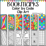 Color by Code Clip Art Designs Bookmarks