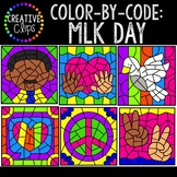 Color by Code Clipart: Martin Luther King Jr. Clipart {Col