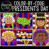 Color by Code Clipart: Presidents Day Clipart {Color by Number}