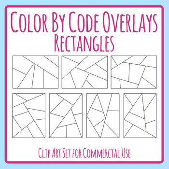 Color by Code / Colour by Number Templates / Overlays Clip Art Commercial Use