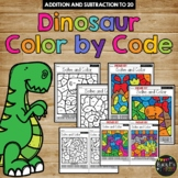 Color by Code DINOSAUR Color by Number {Addition & Subtraction to 20}