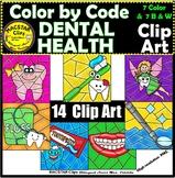 Color by Code Dental Health Clipart Digital Images Clip Arts