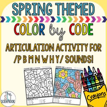 Color by Code- Early sounds- /p b m n w h y/- no prep!