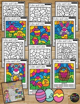 Color by Code Easter Math Activities {Addition & Subtraction to 10}