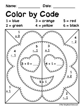 Color by Code Activities - Emoji / Emojis - Addition and Subtraction within 5