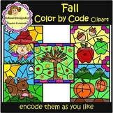 Color by Code - Fall / Autumn - Clip Art (School Designhcf)