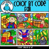 Color by Code Fall Clip Art Set - Chirp Graphics