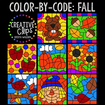 Color by Code: Fall Clipart Bundle {Creative Clips Clipart}