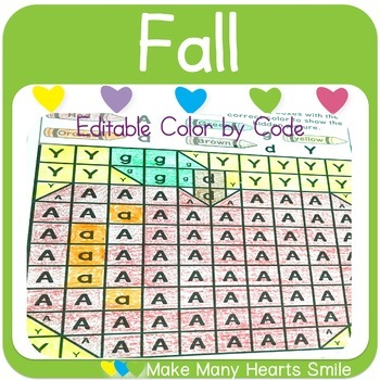 Color by Code: Fall Mystery Pictures