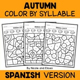 Color by Spanish Syllable - Fall Activities