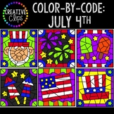 Color by Code: Fourth of July Clipart {Creative Clips Clipart}