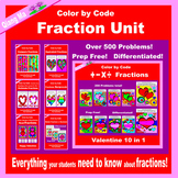 Valentine Color by Code:  Fraction Unit