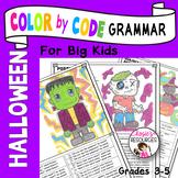 Halloween Color by Code Grammar
