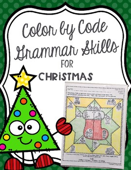 Color by Code Grammar Skills for Christmas