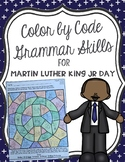 Color by Code Grammar Skills for Martin Luther King Jr Day