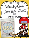 Color by Code Grammar Skills for Winter Sports